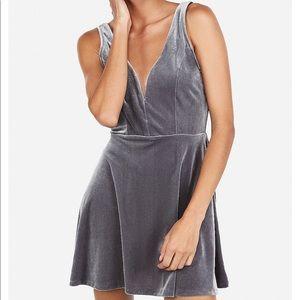EXPRESS velvet skort dress